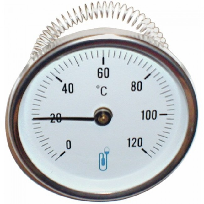 Thermomètre en applique - cadran de diamètre 63 mm DISTRILABO