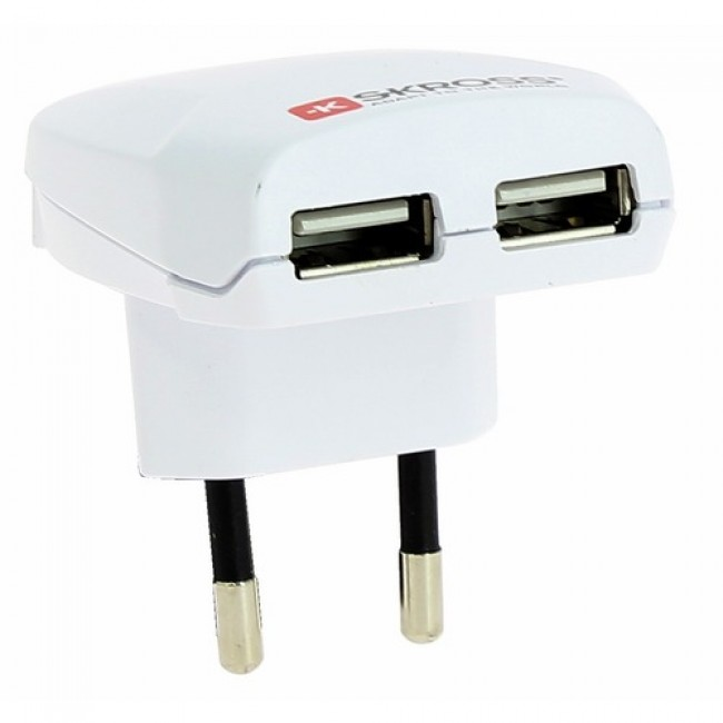 Chargeur USB double prise 1300 mA SKROSS