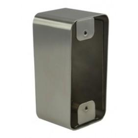 Boîtier de montage en applique pour bouton poussoir sur plaque inox Izyx