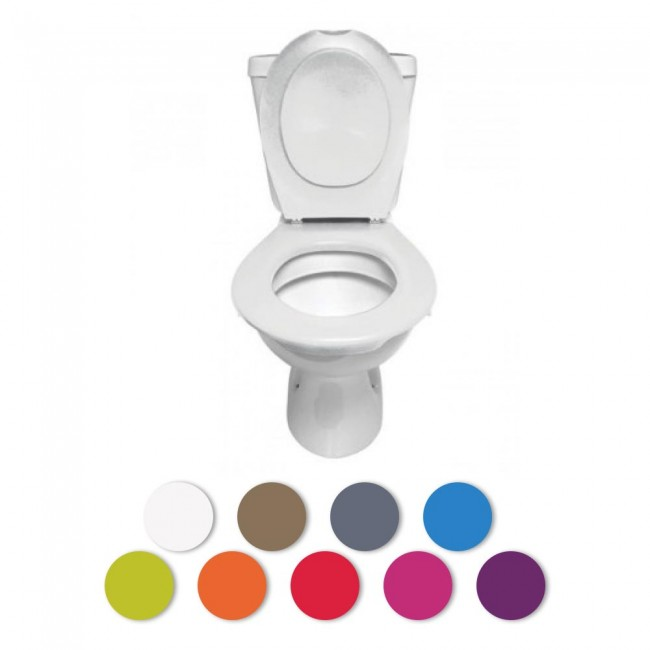 Lunette + abattant WC clipsable - 9 couleurs PAPADO