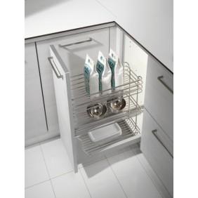 Paniers extractibles meuble de cuisine à 3 niveaux - Gold 1122 INOXA