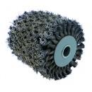 Brosse fibre métal torsadées pour rénovateur REX 120 C - meulage