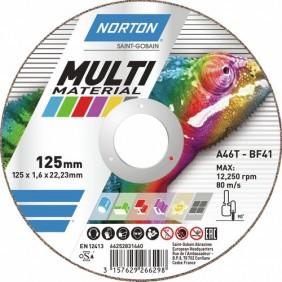 Disques Multi matériaux et acier pour meuleuse NORTON