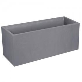 Jardinière gris galet - longueur 100 cm - 97,6 litres - Volcania 13731 EDA PLASTIQUES