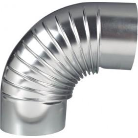 Coude à 90° en aluminium - évacuation et ventillation TEN