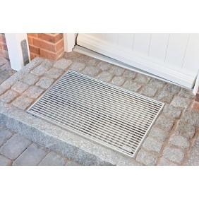 Gratte-pieds - avec couverture et bac - grille en métal ACO PASSAVANT