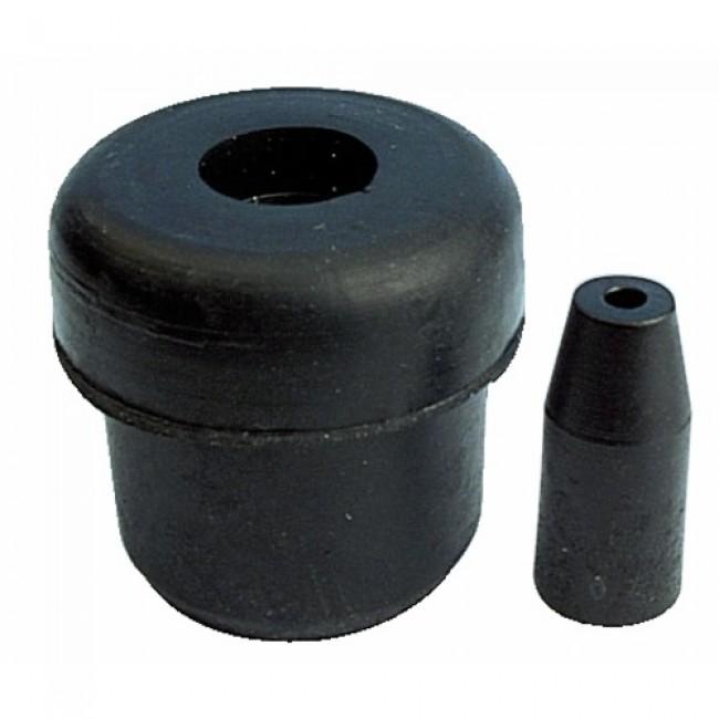Embouts de pieds de chaise intérieurs en caoutchouc noir BRICOZOR