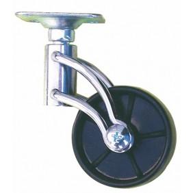 Roulette de meuble design noir, roue en polypropylène GUITEL
