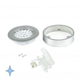 Spot LED Crux-in - lumière blanc froid - gris métallisé EMUCA