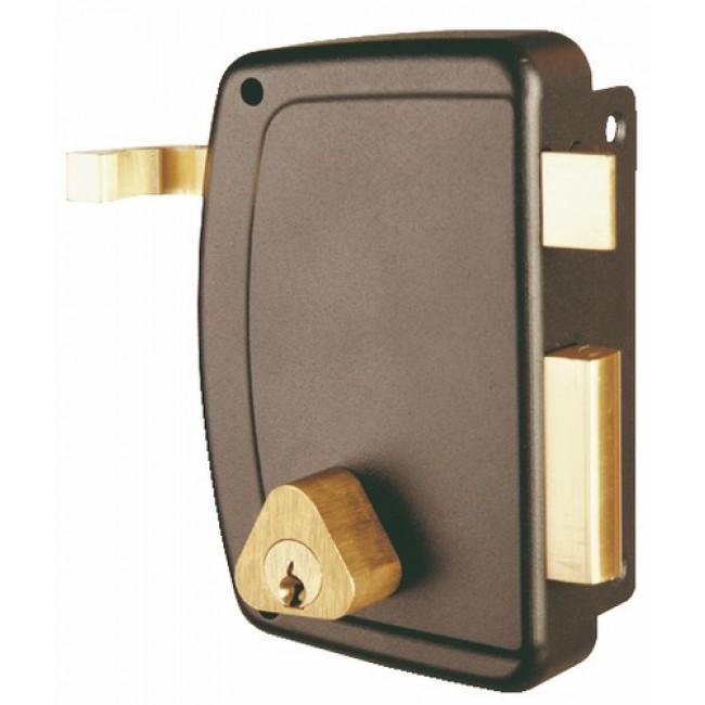 Serrure en applique verticale à tirage - cylindre rond - Match JPM