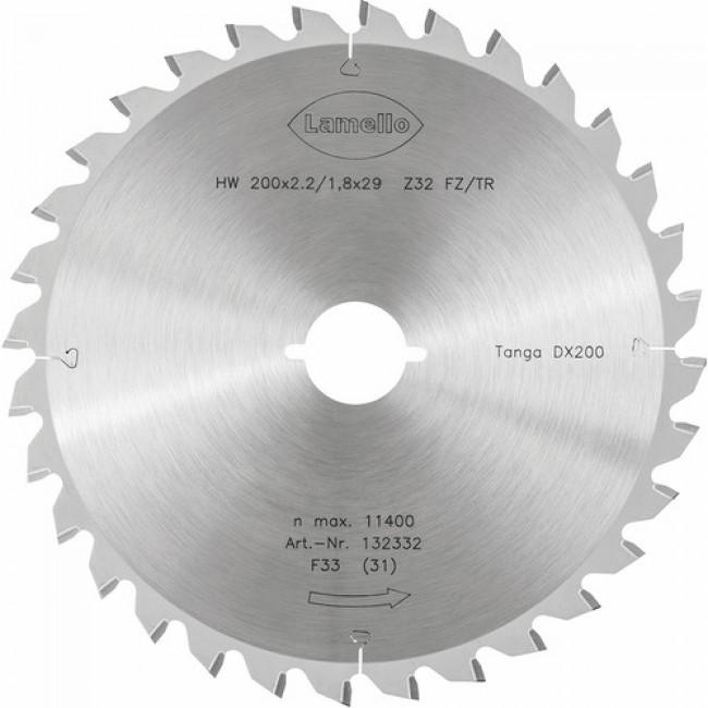 Lame pour scie arasante Tanga DX 200 - 200 mm 32 dents - pour aluminium LAMELLO