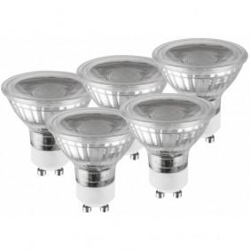 Ampoules LED - 5W - spot GU10 - Glass - Lot de 5 LUCECO