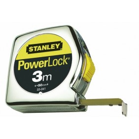 Mètre ruban - blocage et retour ruban automatique - Powerlock STANLEY