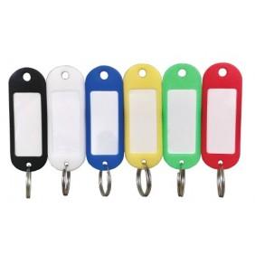 Porte-clés à étiquettes en plastique de couleurs - anneau brisé CHAUBEYRE