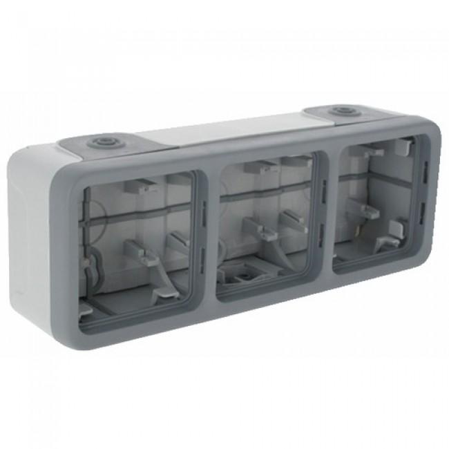 Boîtier composable étanche - 3 postes - Plexo LEGRAND