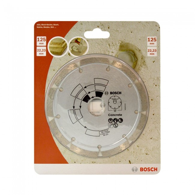 Disque diamant 125mm pour béton/granite - 2609258414 BOSCH