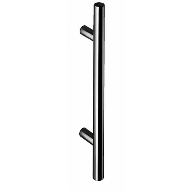 Poignées de porte battante droite - diamètre 32 mm - acier inoxydable NORMBAU