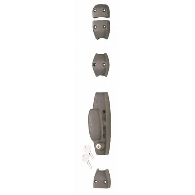 Crémone en applique en fonte pour porte cochère - RY 34 gris mat JARDINIER MASSARD