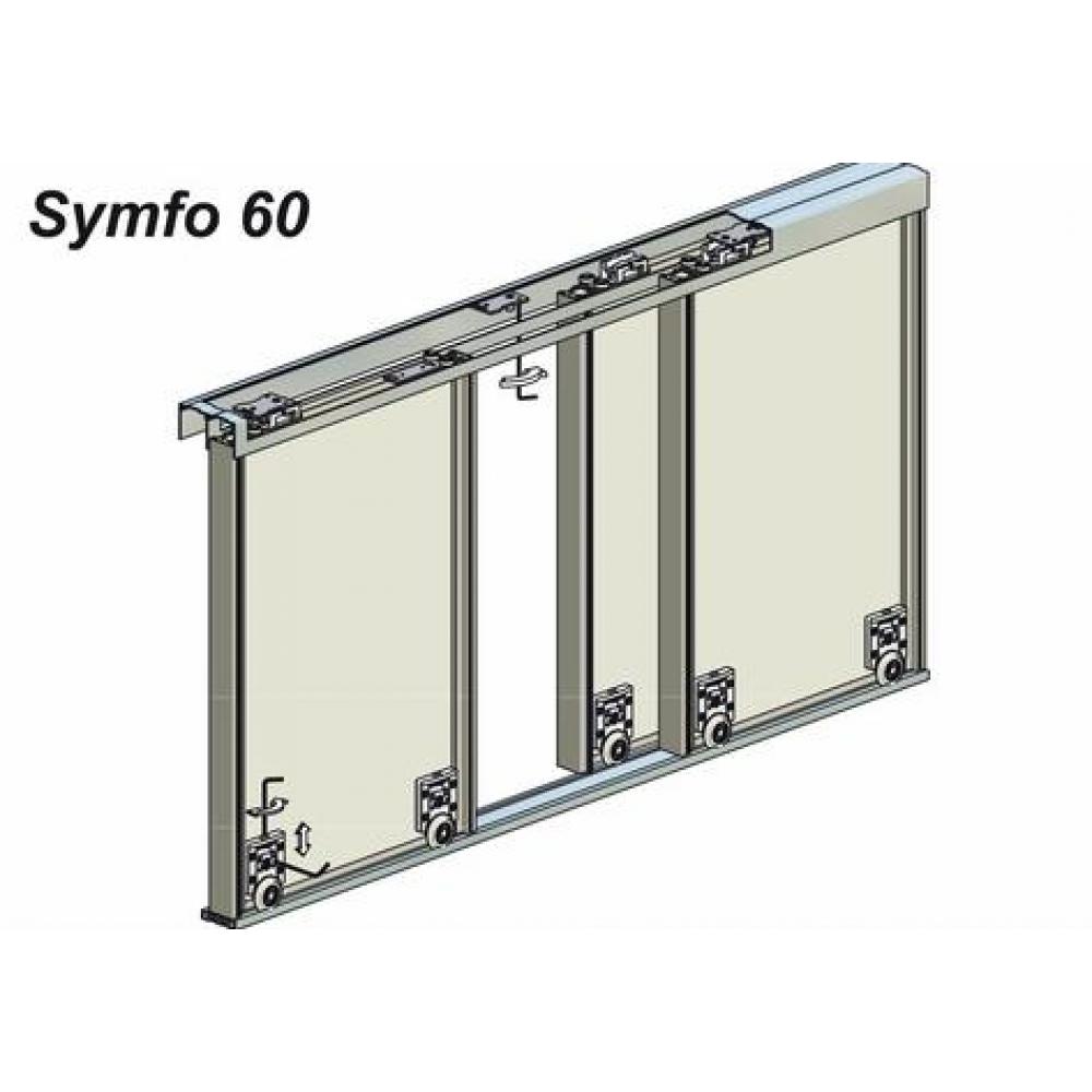 Syst me pour porte coulissante symfo vantail 60 kg rob - Systeme pour porte coulissante ...