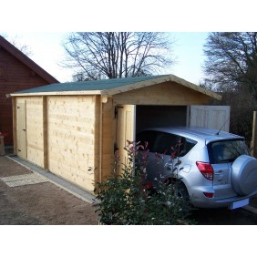 Garage en bois - surface 19,03 m2 - Vectura 3562 HABRITA
