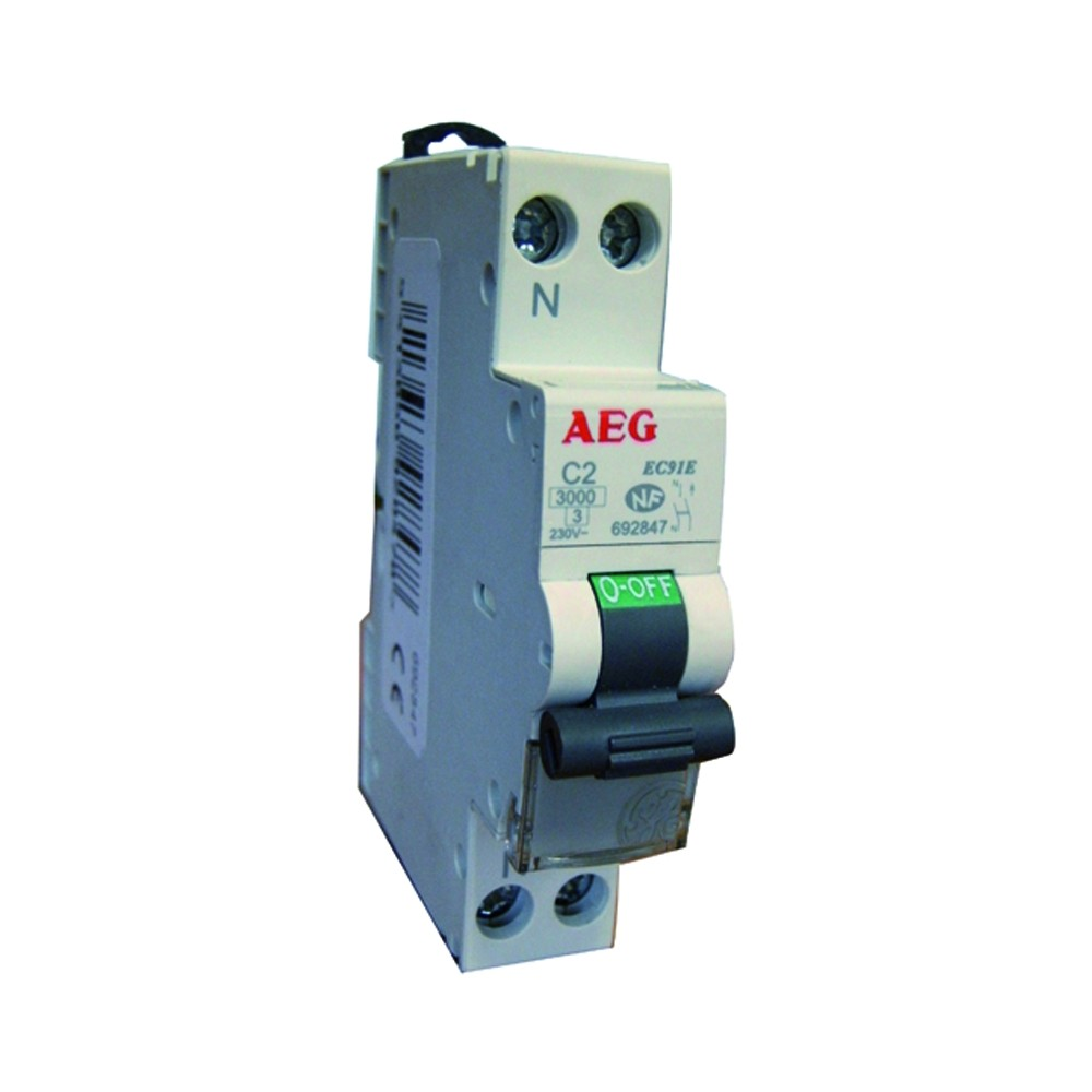 Neutre 16 A AEG AUN692851 Disjoncteur Phase