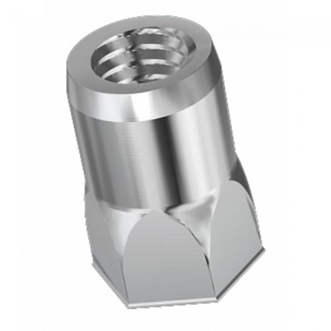 Douille taraudée - acier zingué - fût semi hexagonal - 100 pièces RIVKLE