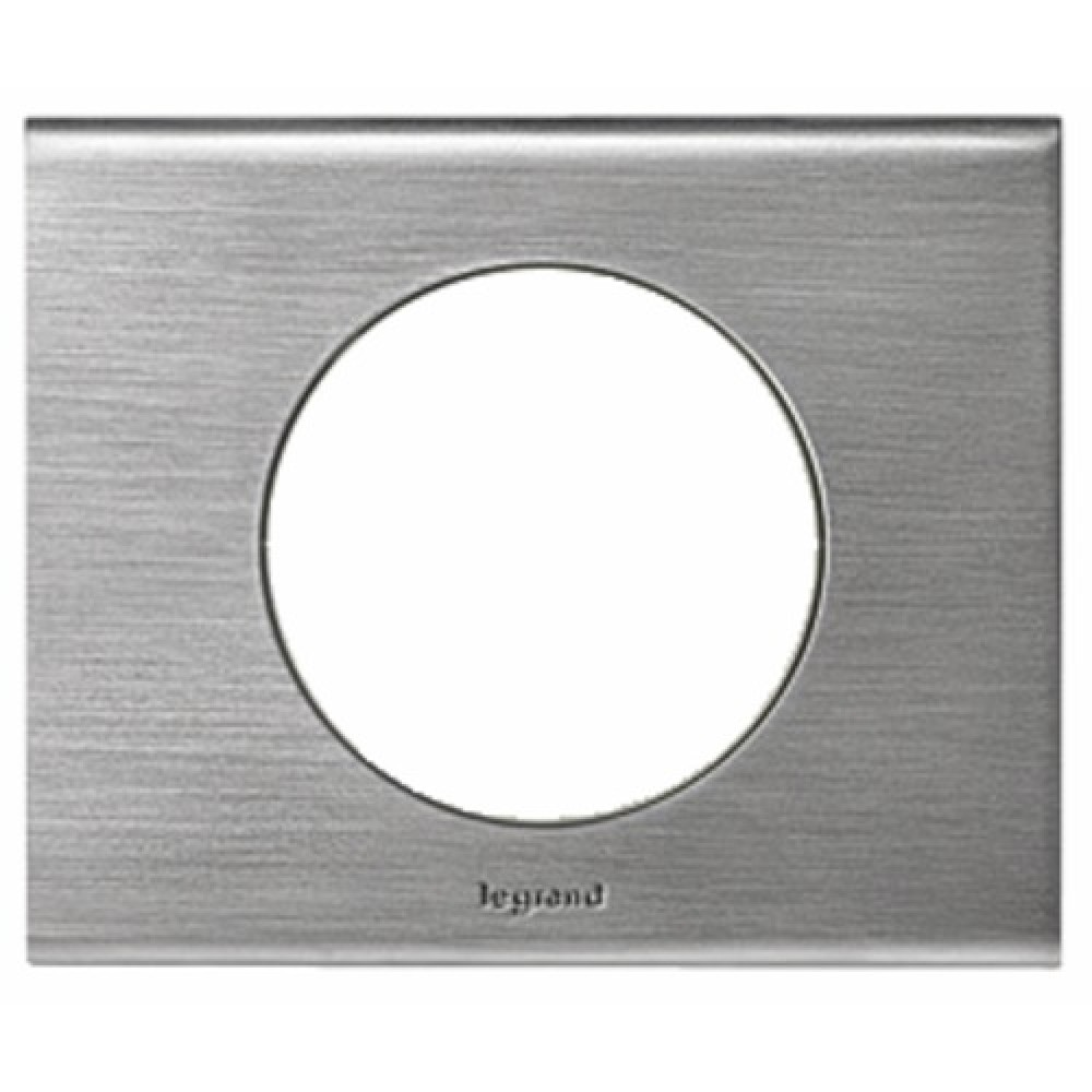 Plaque c liane mati re 1 poste inox bross legrand for Plaque inox prix