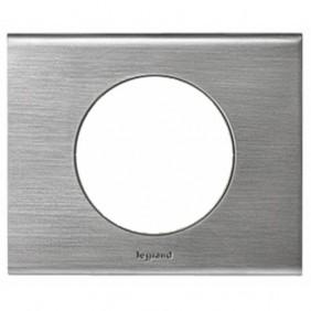 Plaque Céliane - Matière - 1 poste - Nickel Velours LEGRAND