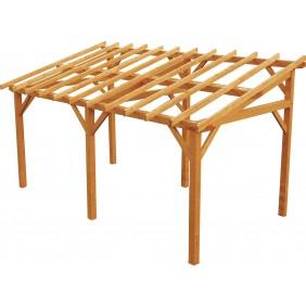 Carport en bois pour 1 voiture - 15,3 m² - Vanoise JARDIPOLYS