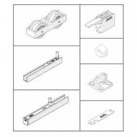 Système pour porte coulissante Junior 80 type B Pocket - vantail 80 kg HAWA