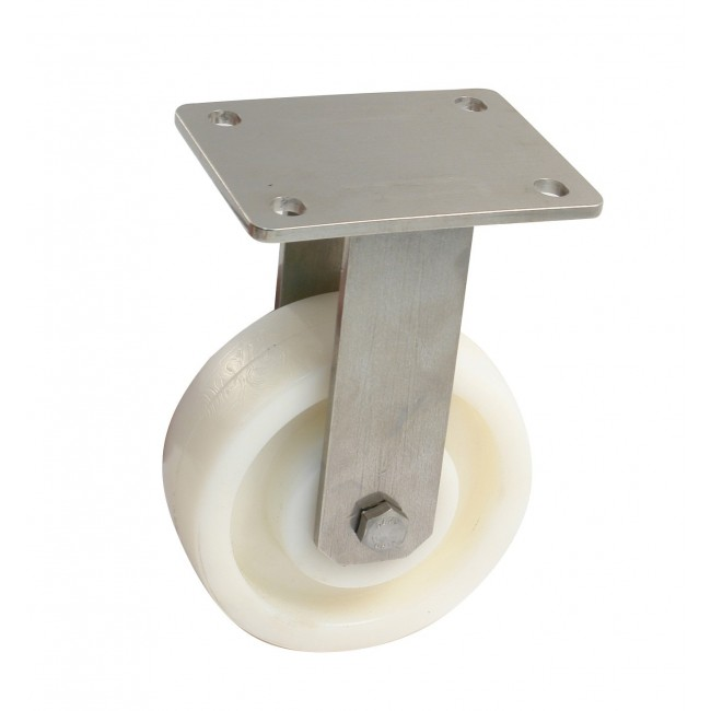 Roulette de manutention à platine inox fixe - Mecano AVL