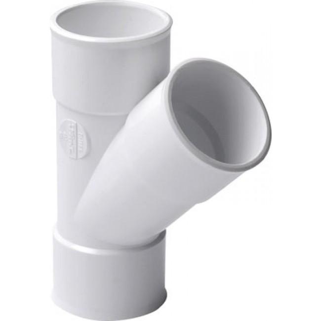 Culotte PVC blanc 45° NICOLL