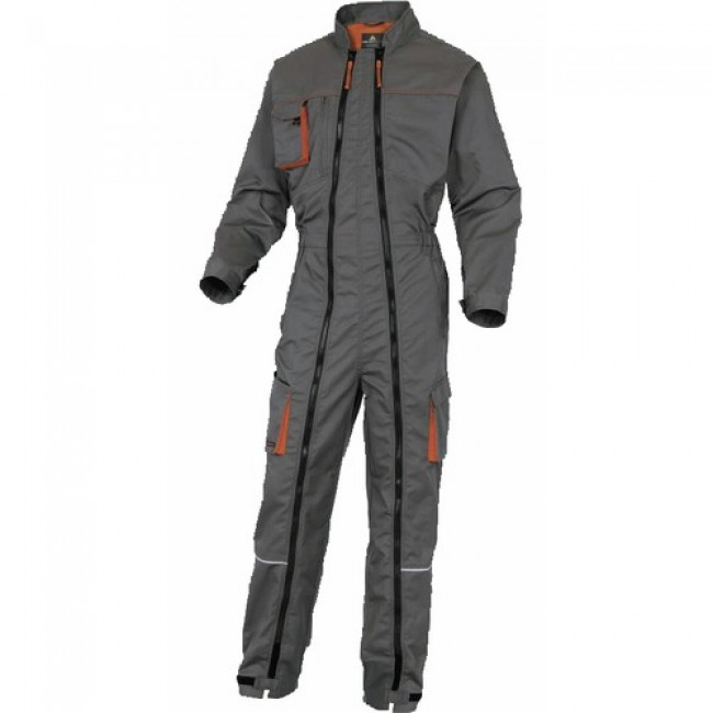 Combinaison double zip - Mach 2 - gris/orange DELTA PLUS