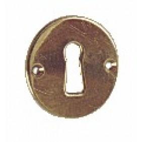 Rosace de porte en laiton poli BRICOZOR