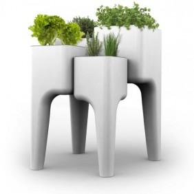 Jardinière en polypropylène avec 4 bacs - Kiga XL HURBZ