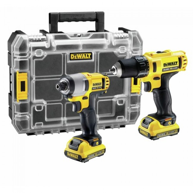 Kit 2 outils électroportatif 10,8 V 2Ah Li-Ion - DCK 211 D2T