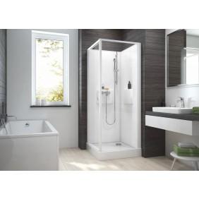 Cabine de douche -Izibox 2 -Porte pivotante- 3 dimensions et finitions LEDA