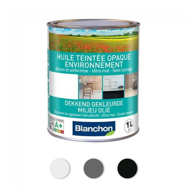 Huile teintée opaque mat colorée - pour parquet - Environnement BLANCHON