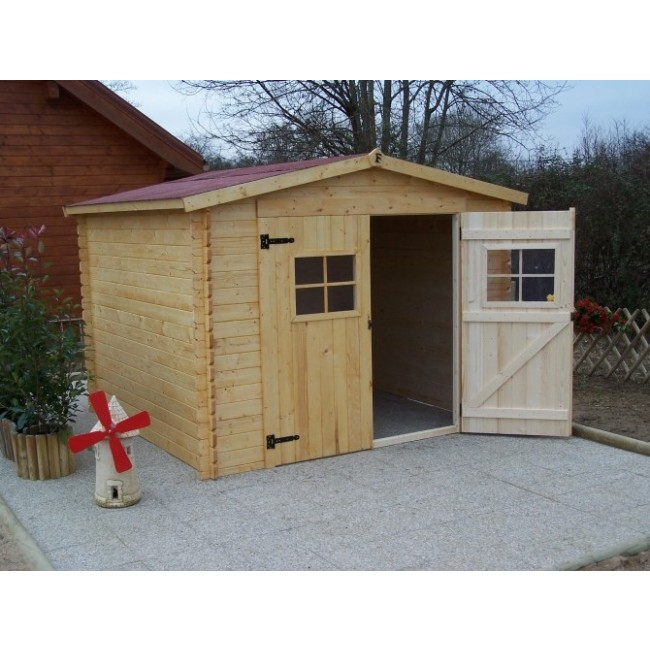 Abri de jardin 28 mm vend e 7 71 m2 bricozor for Jardin 71