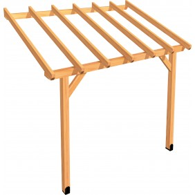 Carport en bois - à adosser - Protek ABS2020 JARDIPOLYS