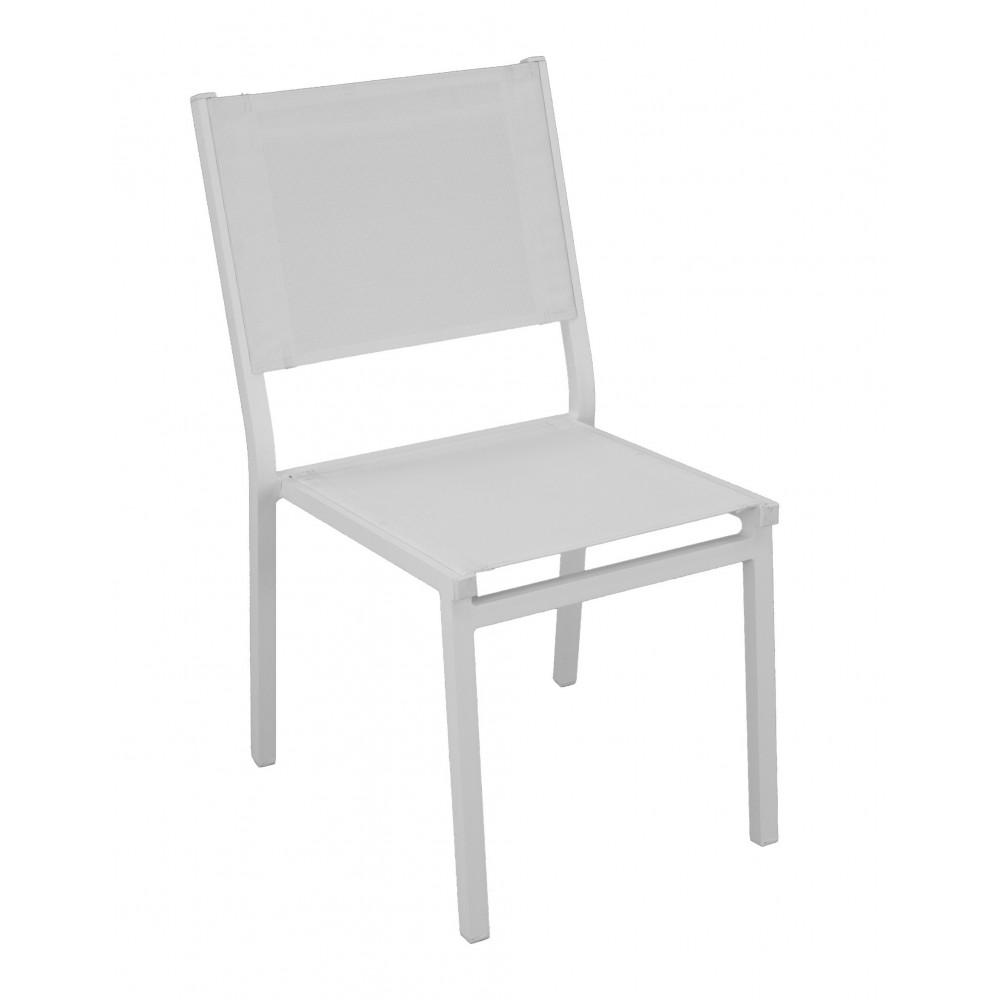 Textilène Foncé Indoor Lot De Jardin Outdoor 2 Chaises Gris Aluminium Sinawa YbvIf7g6y
