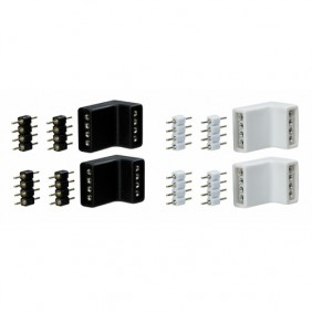 Pack de 4 connecteurs d'angle - ruban flexible YourLED PAULMANN
