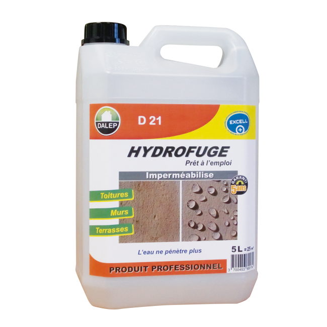 Hydrofuge et oléofuge - toitures et murs - D21 DALEP
