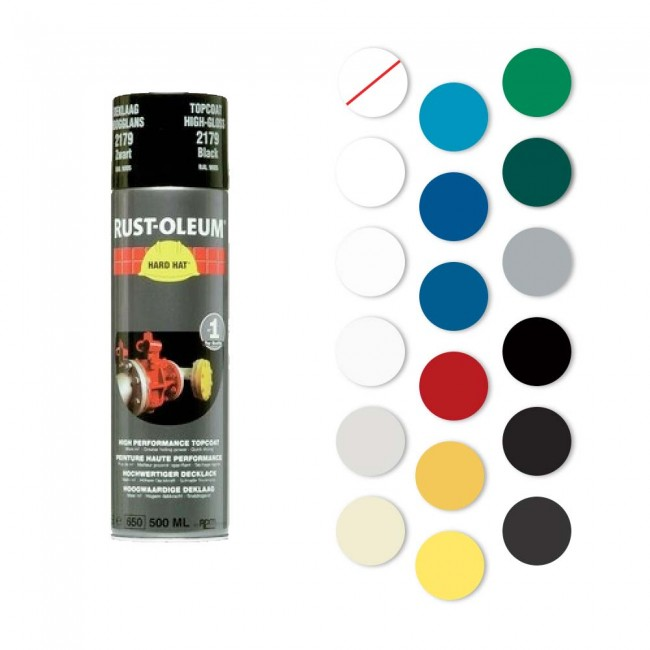 Peinture de finition - aérosol 500 ml - HARD HAT® RUST-OLEUM