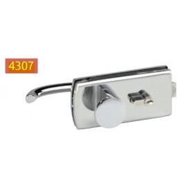 Serrure de miroiterie à cylindre - béquille et bouton - Lagune 4037 STREMLER