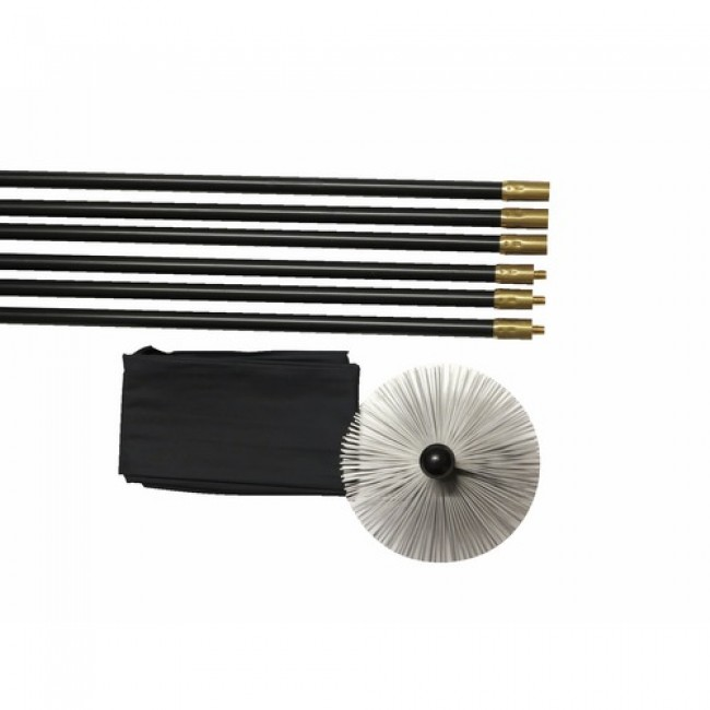 Kit de ramonage - 6 cannes - longueur 9 m - hérisson - PPH D20 M12 PROGALVA