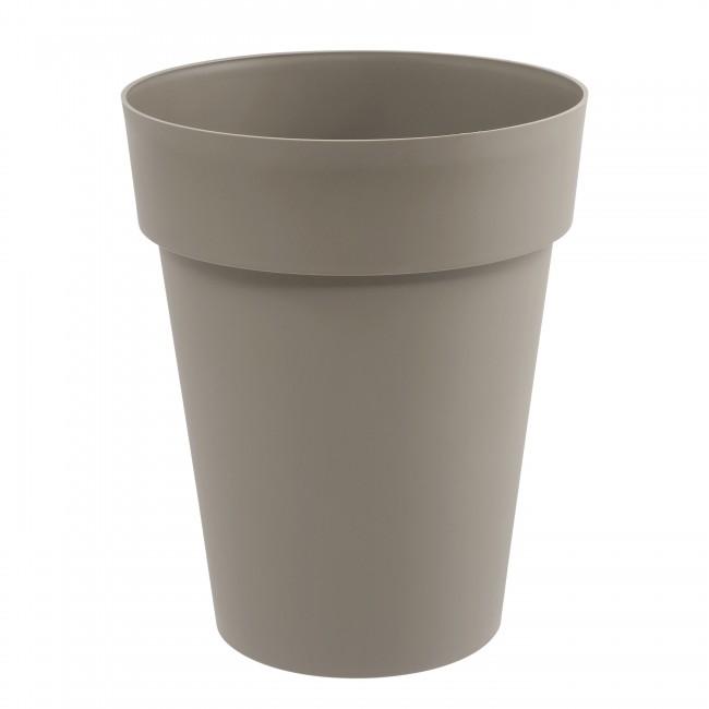 Pot rond mi-haut 44 cm taupe - 50 litres - Toscane 13629 EDA PLASTIQUES