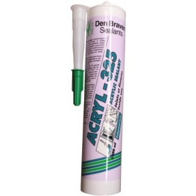 Mastic acrylique - joint et fissure - cartouche de 300 ml - Acryl 325 DEN BRAVEN