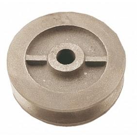 Galet en fonte pour porte coulissante sur fer plat - gorge carrée JARDINIER MASSARD