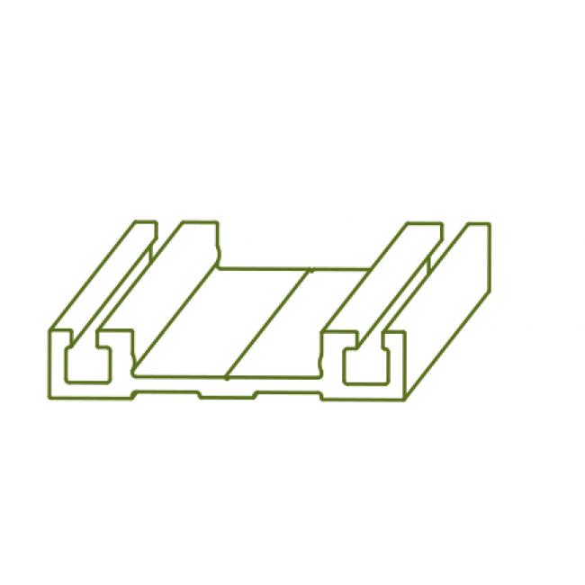 Rail bas de coulissage pour porte coulissante Symfo ROB